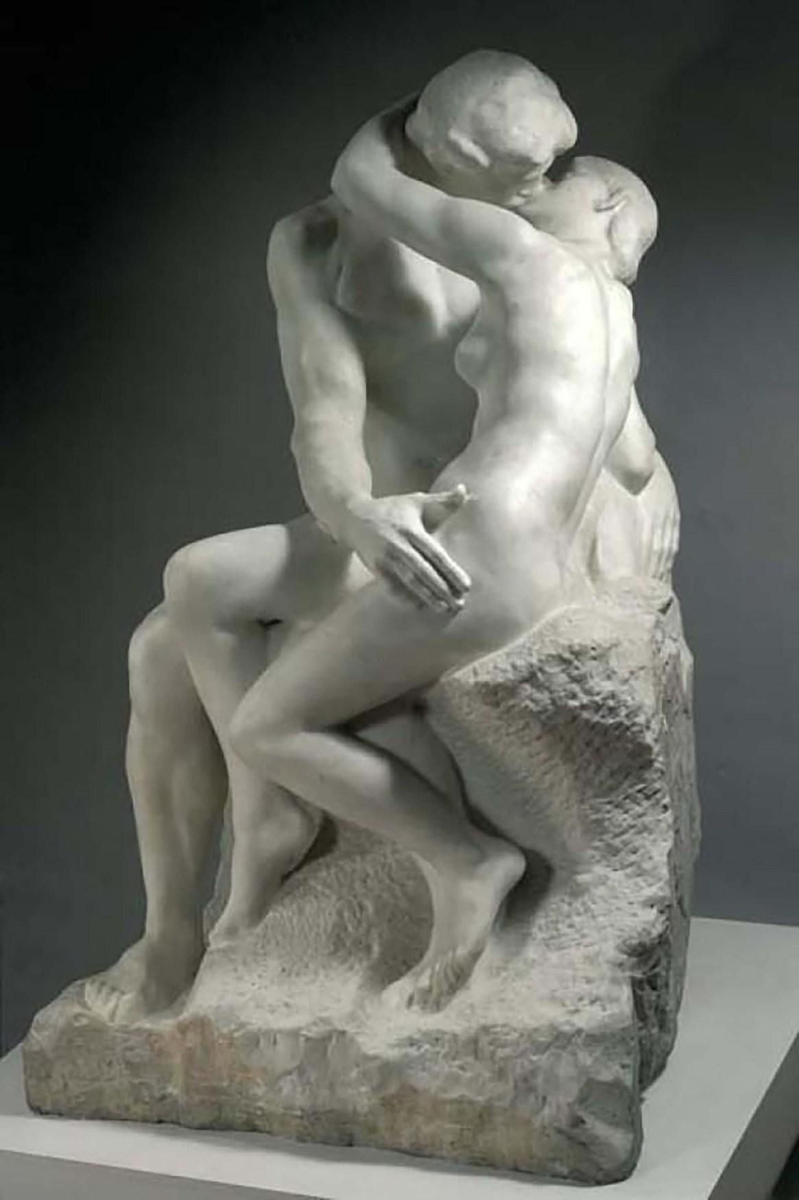 El beso de Rodin, en el Louvre