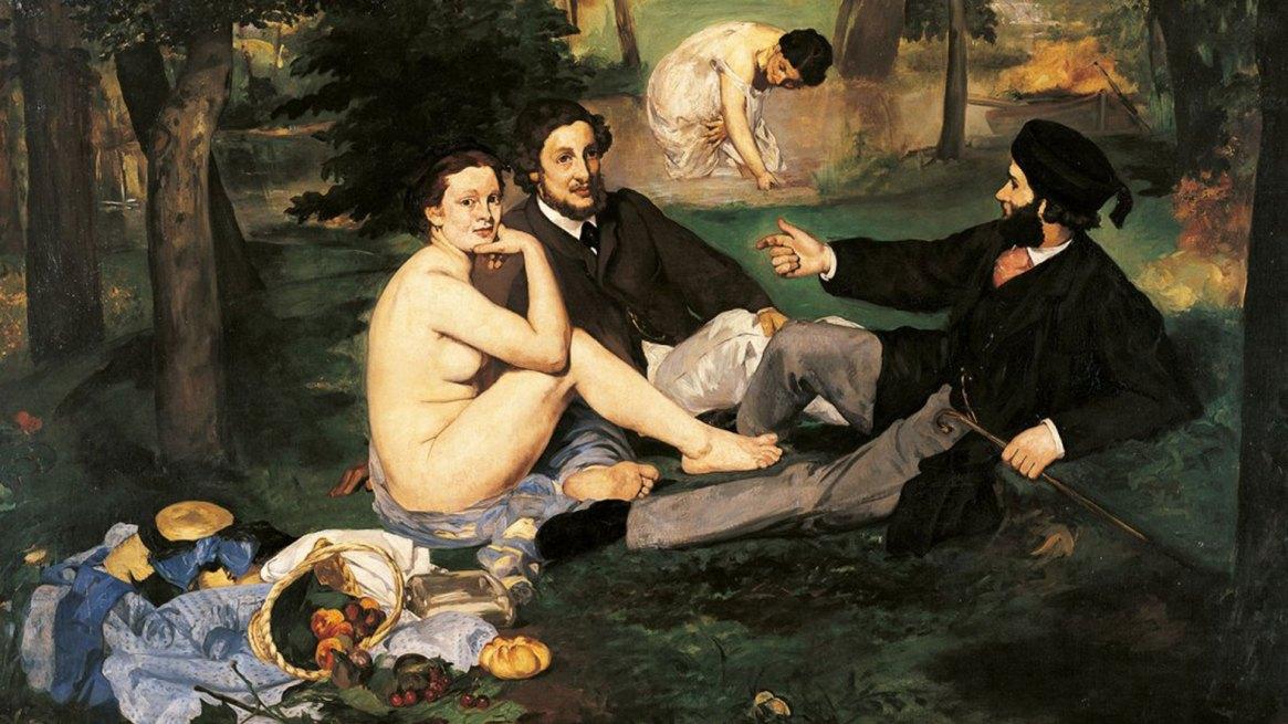 Dejeuner sur l'herbe, un clásico del pintor impresionista Edouard Manet