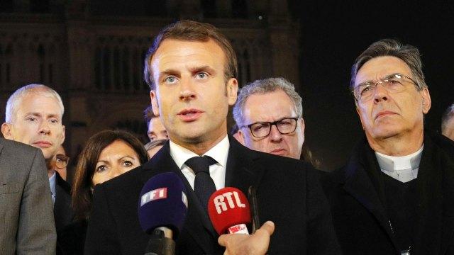 Macron aseguró que lo peor ya fue evitado (REUTERS)