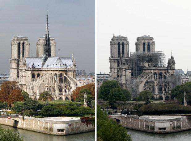 El antes y después de la iglesia (Reuters)
