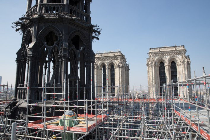 Los andamios sobre la catedral (Reuters)