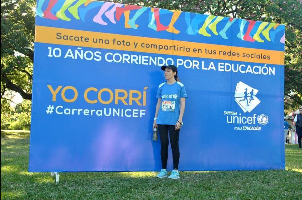 Agustina en la carrera de Unicef