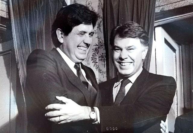 Alan García y Felipe González fotografiados en La Moncloa en enero de 1987 (Ministerio de la Presidencia. Gobierno de España)
