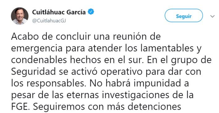 El morenista Cuitláhuac García es el gobernador de Veracruz (Foto: Twitter/cuitlahuacGJ)