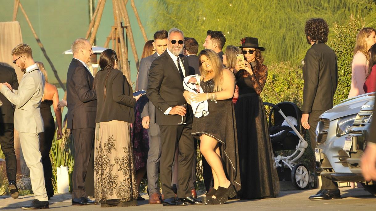 Rial junto a su hija mayor, Morena, y su nieto, Francesco