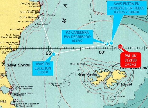El mapa que muestra el lugar del ataque