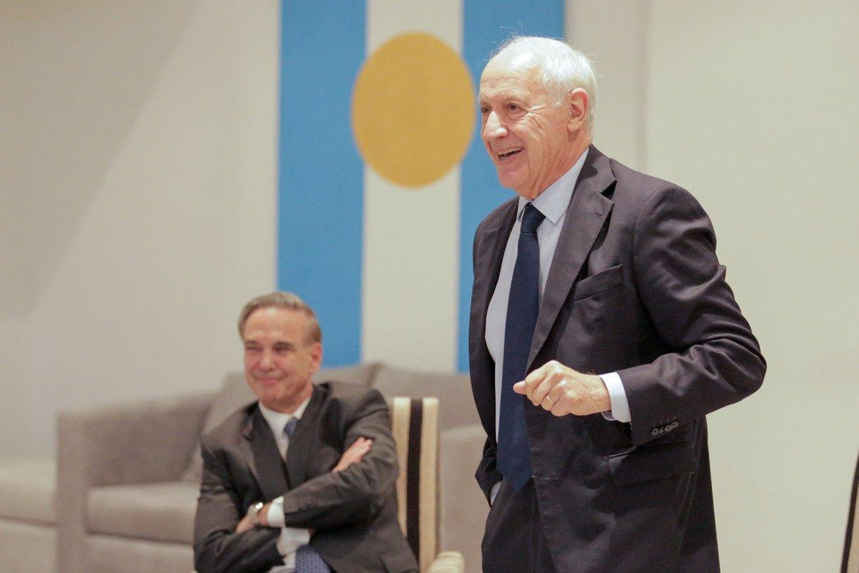 Riberto Lavagna junto a uno de sus principales socios políticos, Miguel Pichetto
