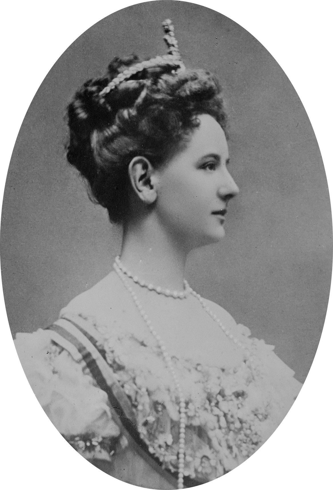 La reina Guillermina en 1909