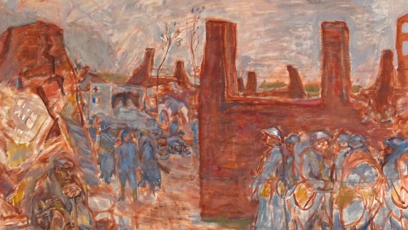 """A Ruined Village Near Ham"", 1917"