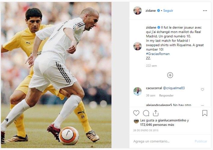 El mensaje en Instagram de Zidane