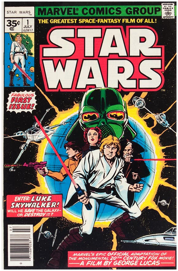 Marvel lanzó un cómic de Star Wars en 1977 (Foto: Marvel Cómics)