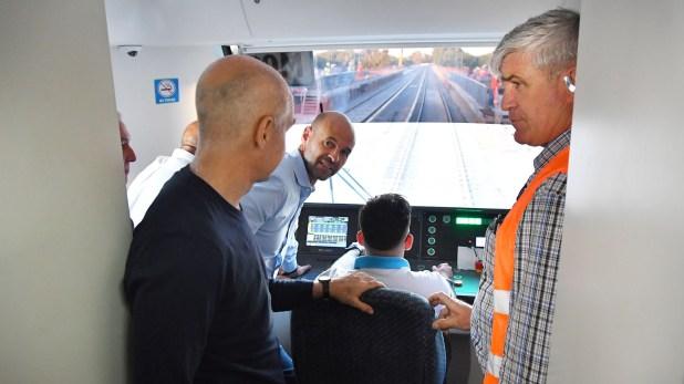 El Ministro de Transporte, Guillermo Dietrich, también fue parte de la comitiva oficial (Prensa: GCBA)