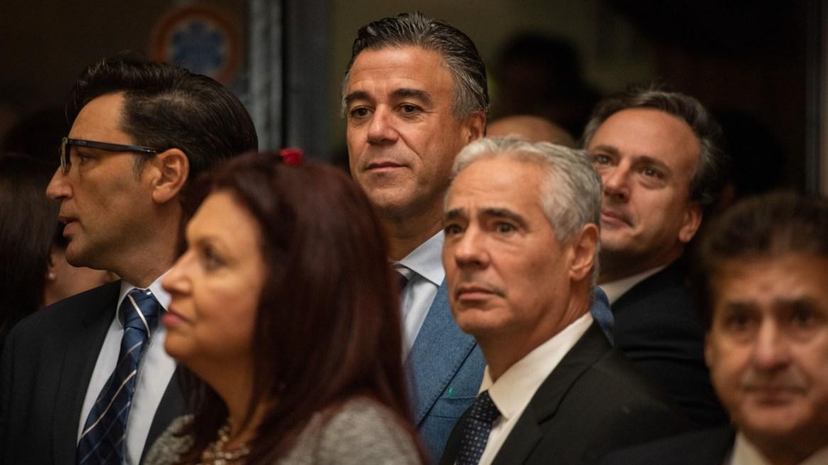 Los jueces Daniel Rafecas y Sergio Torres asistieron a la jura (Adrián Escandar)