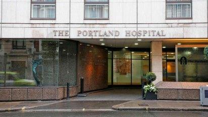 Se cree que Meghan Markle dio a luz al bebé real en el Hospital Portland en Londres (Shutterstock)