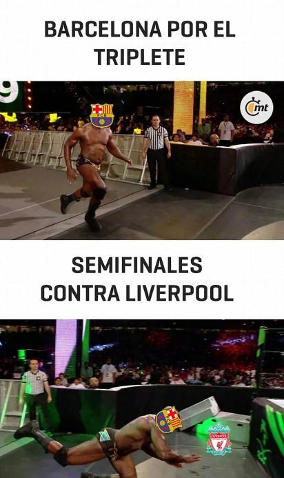 Los mejores memes por la histórica eliminación del Barcelona a manos del Liverpool