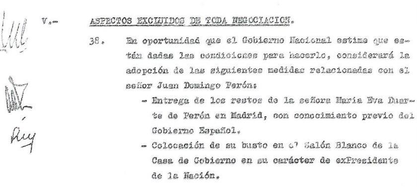 Uno de los puntos que la Junta Militar le encargó al brigadier Rojas Silveyra