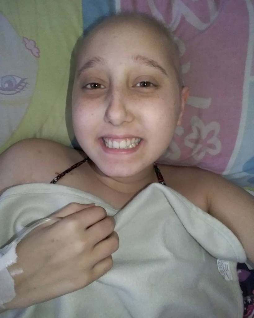 Celeste fue registrando cada momento de su tratamiento en su canal de YouTube.