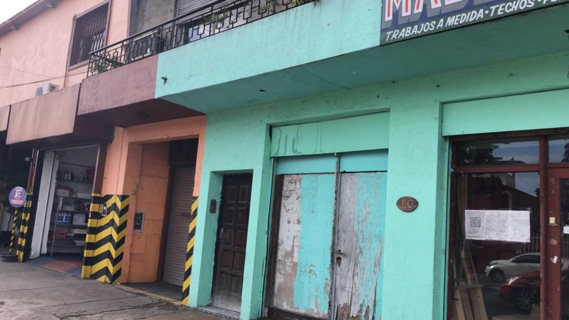 La fachada de la casa donde Oliva y la banda criminal asaltaron a los ancianos
