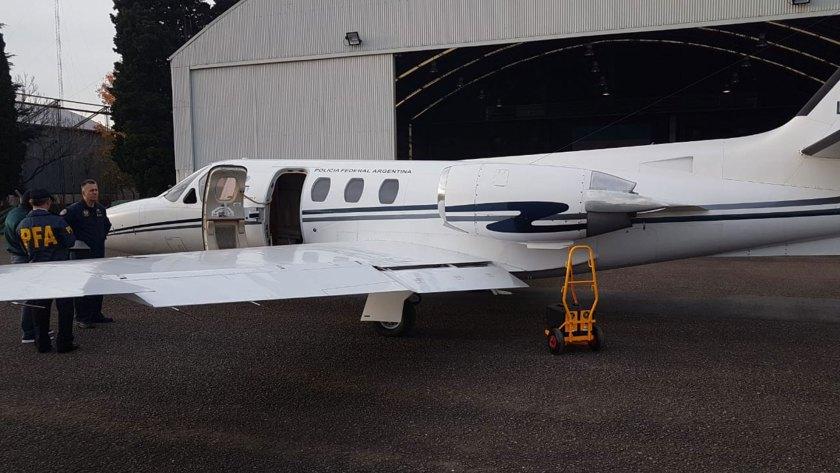 El avión Citation 500 en el que es trasladado el detenido