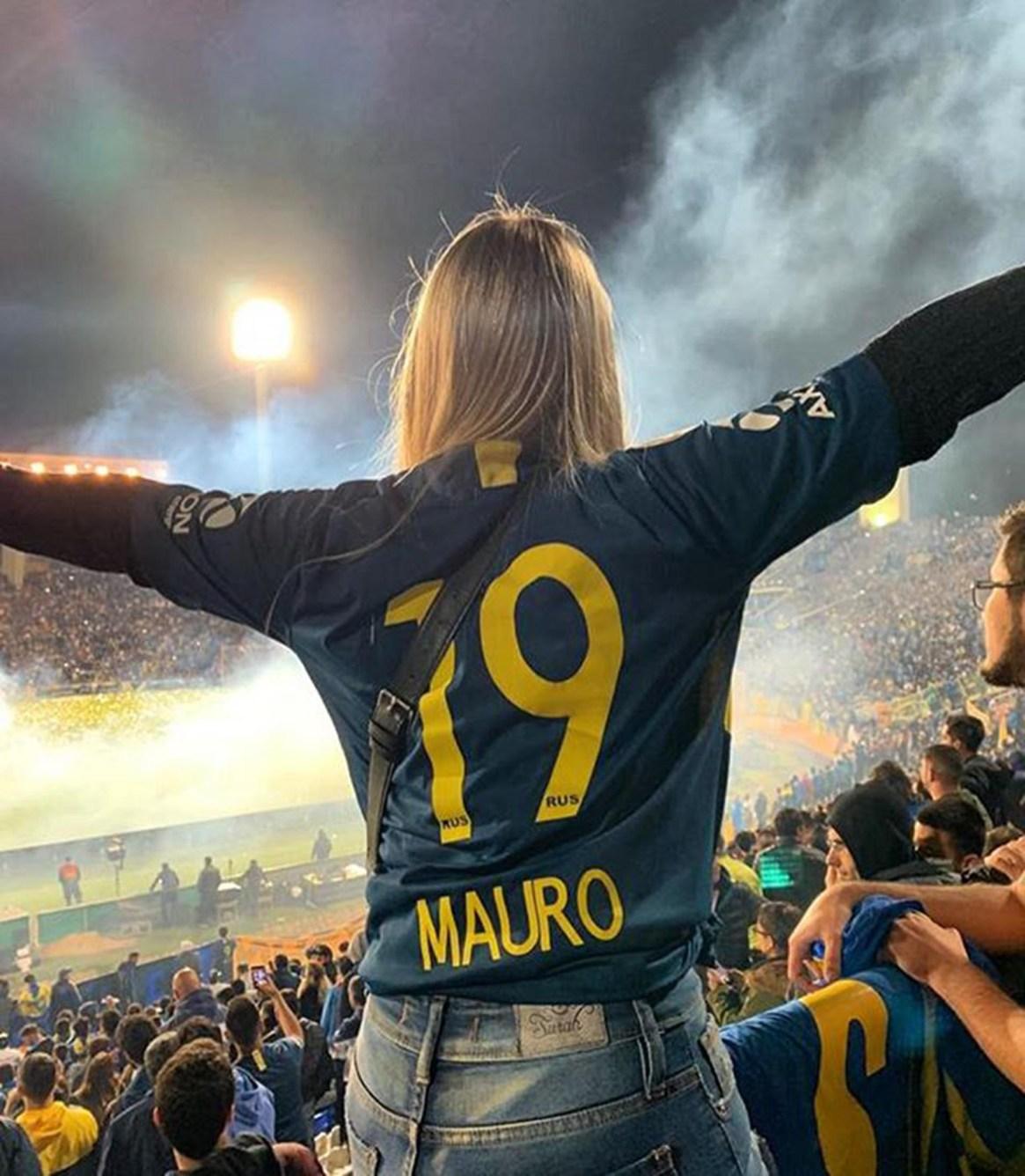 Nahir Zárate, en la Supercopa Argentina de Mendoza que Boca le ganó a Rosario Central (Instagram: @nanizarate_)