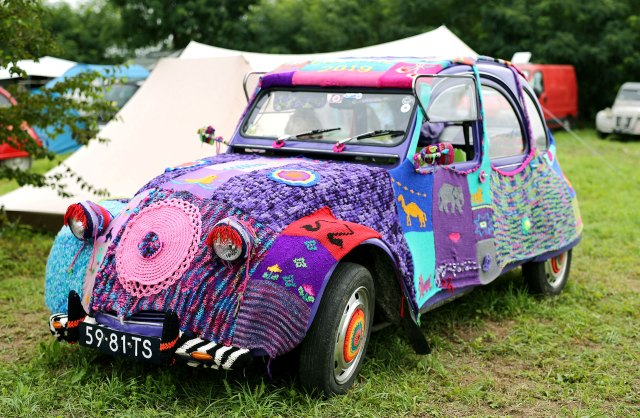 Citroen 2CV customized dedicated to the iconic car in Samobor, Croatia event.  (Reuters)