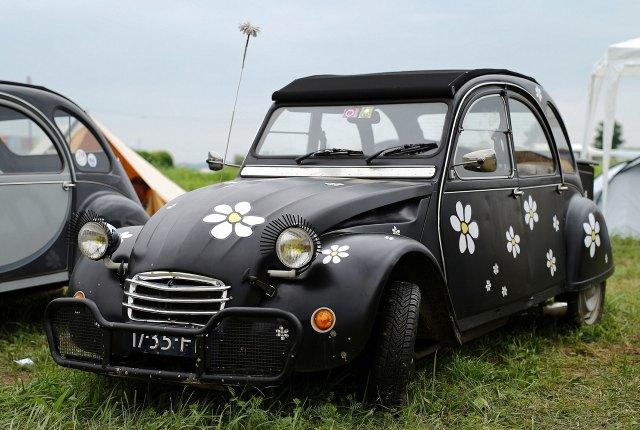 Citroen 2CV black and spangled custom made in Samobor, Croatia.  (Reuters)