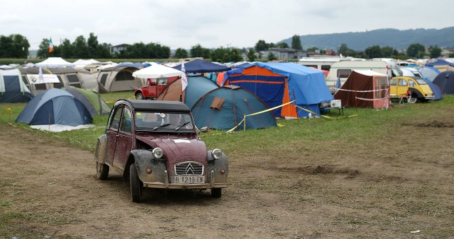 Citroen 2CV fans around the world gather in camps every year to share their passion for the automotive industry.  (Reuters)