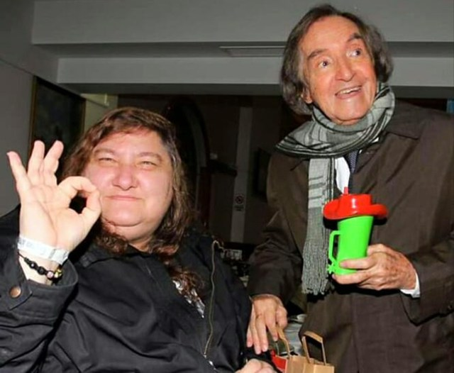 El animador infantil junto a Verónica Guerman, la querida fotógrafa de Teleshow que falleció este año