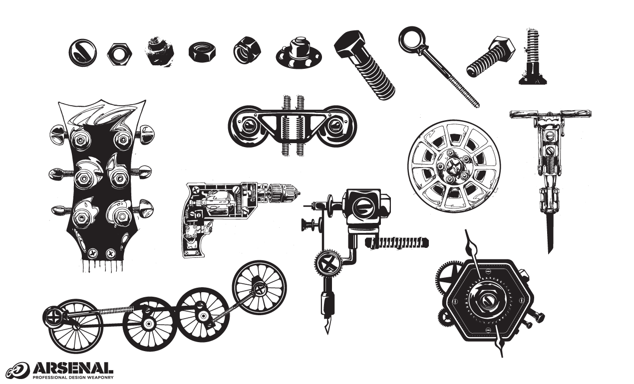 Machinery Vector Set 21 For Adobe Illustrator