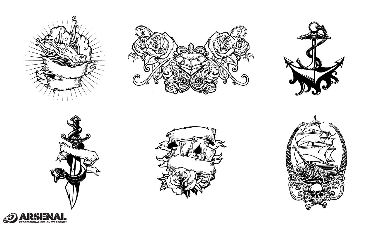 Adobe Illustrator Tattoo Design Pack