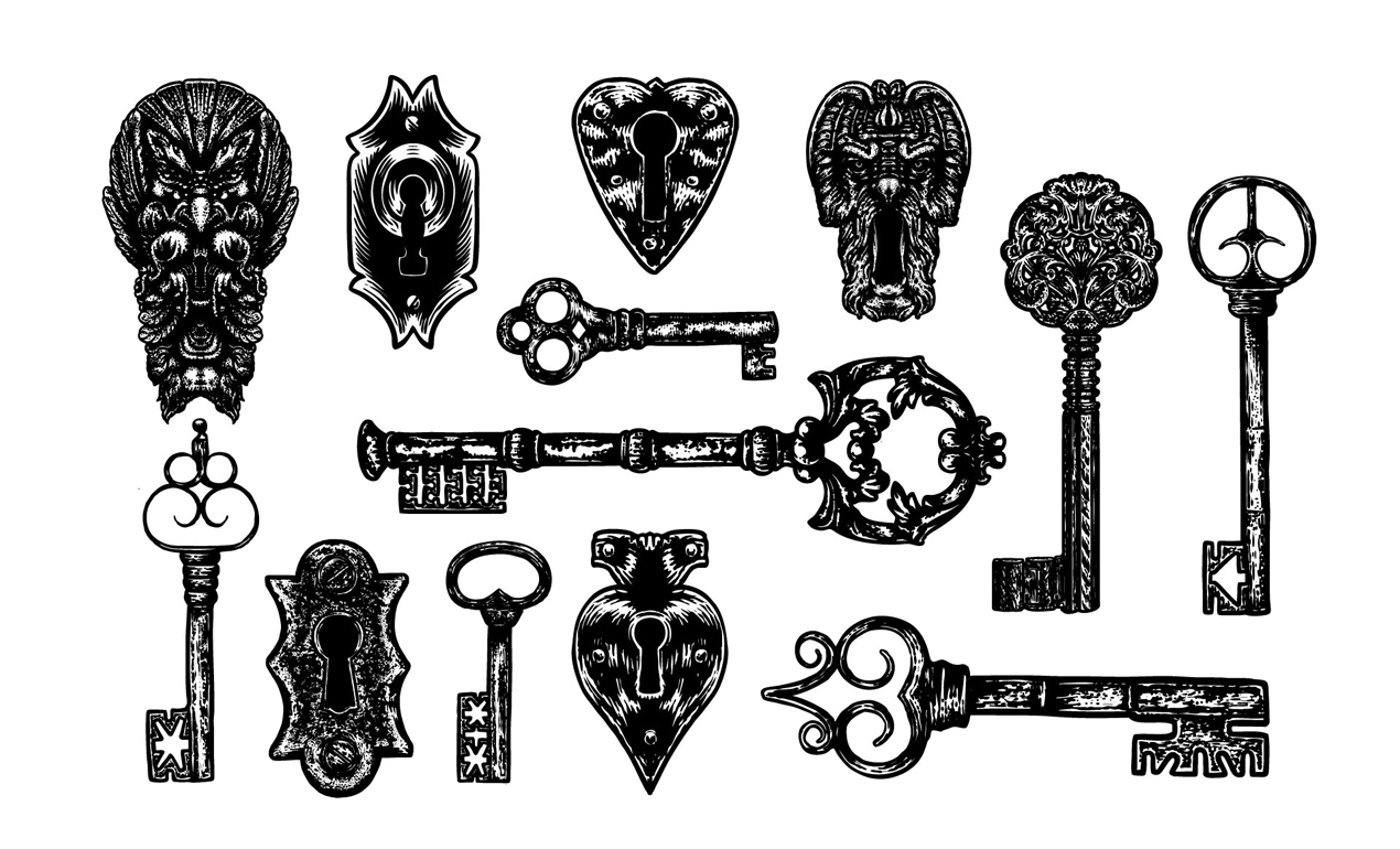 Lock And Key Vector Pack