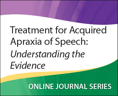 Treatment For Acquired Apraxia Of Speech Understanding