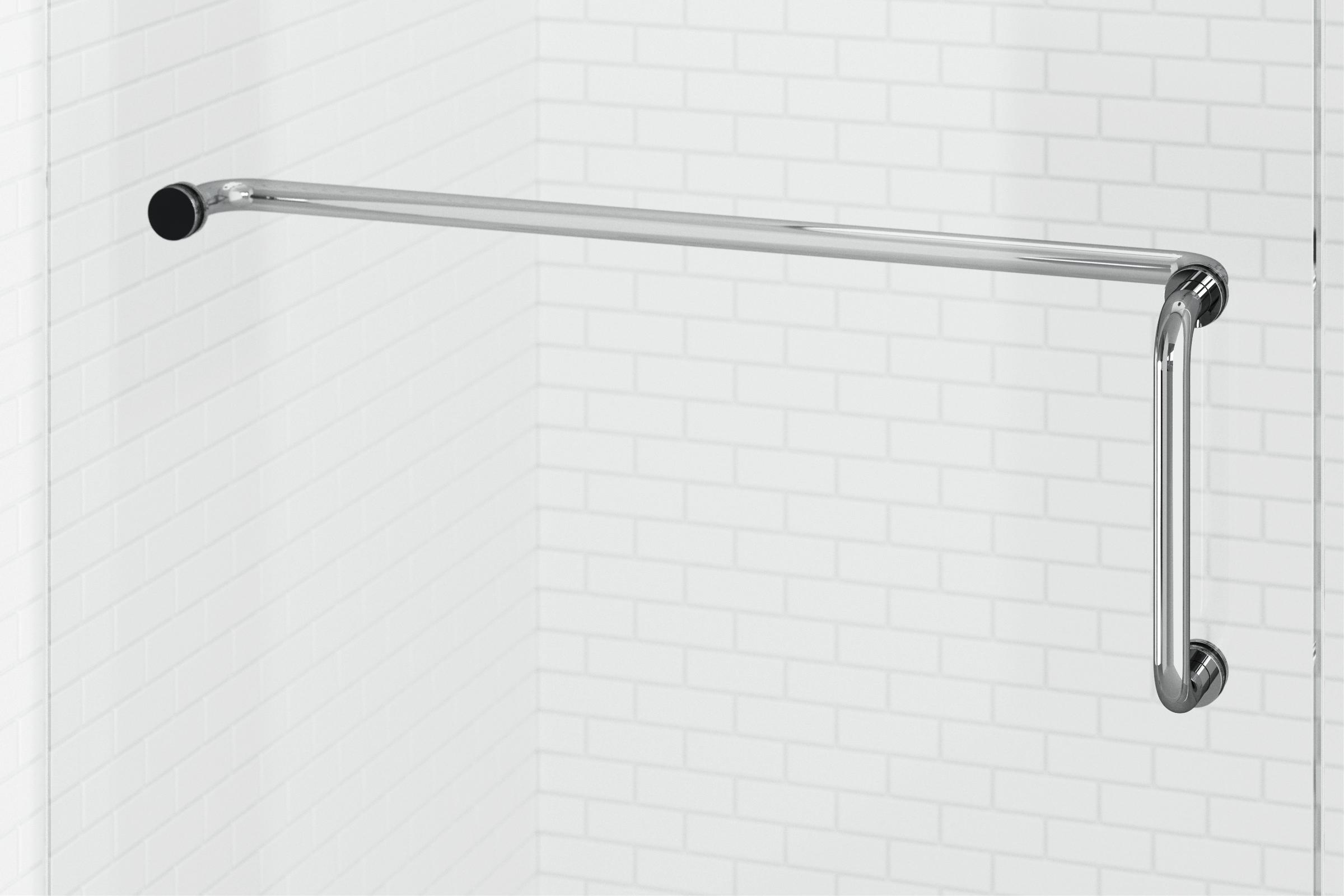 Celesta Frameless 3 8 Inch Glass Swing Shower Basco