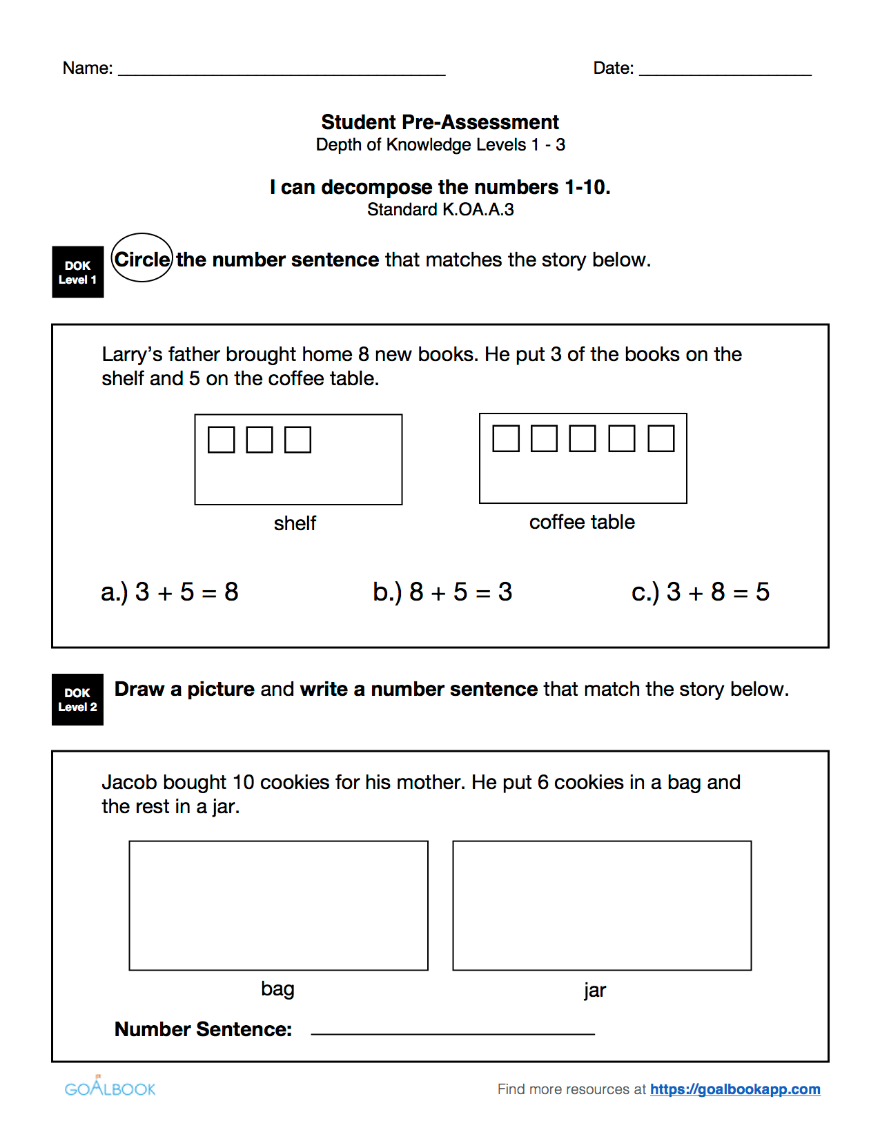 K Oa 3 Decompose Numbers 1 10