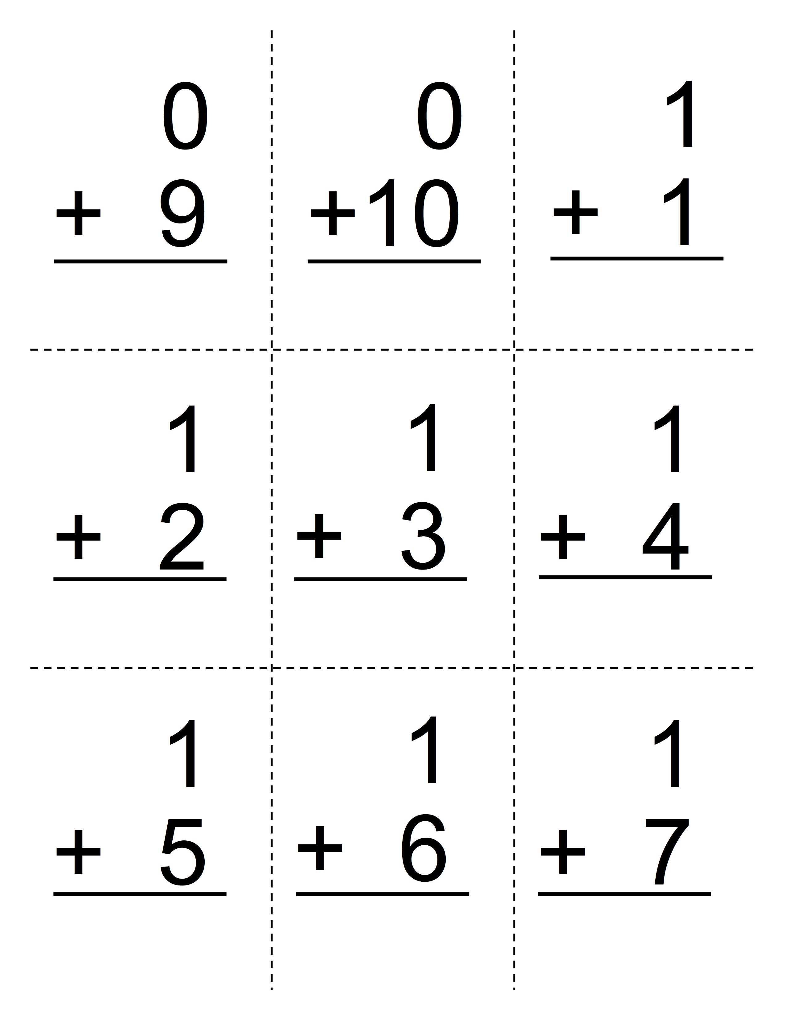 Worksheet Printable Math Flash Cards Grass Fedjp