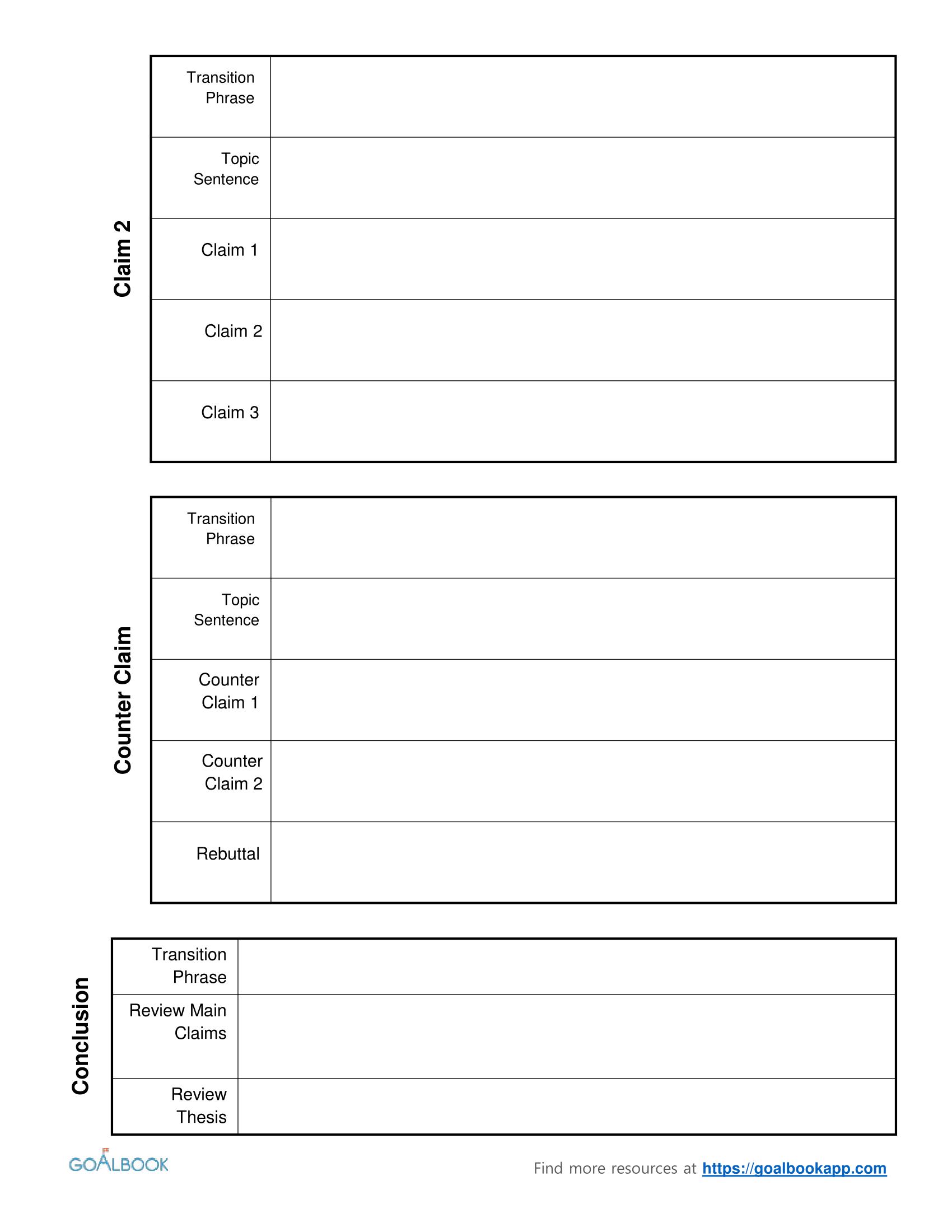 Essay Outline Worksheet Middle School Essay Outline