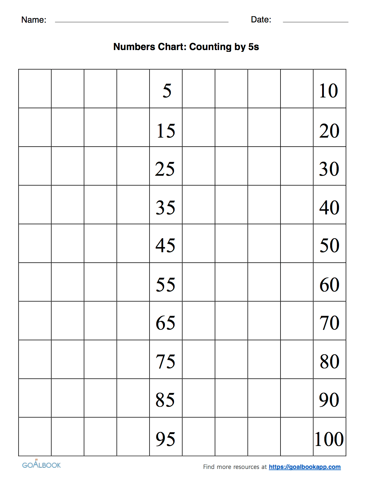 Counting Worksheet Number 4