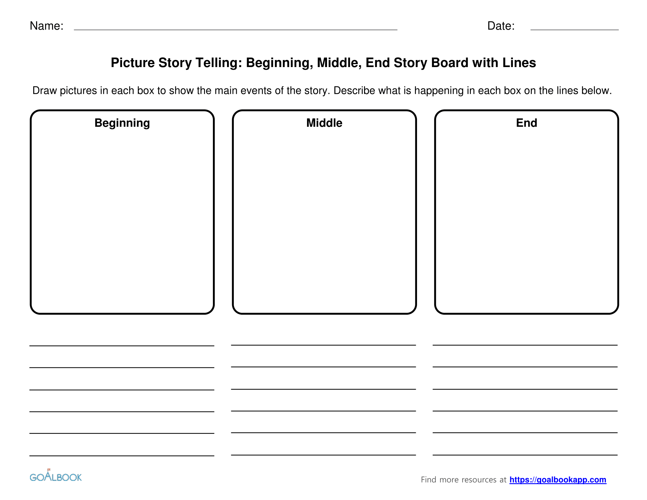 Kindergarten Worksheet Beginning Middle End Sounds