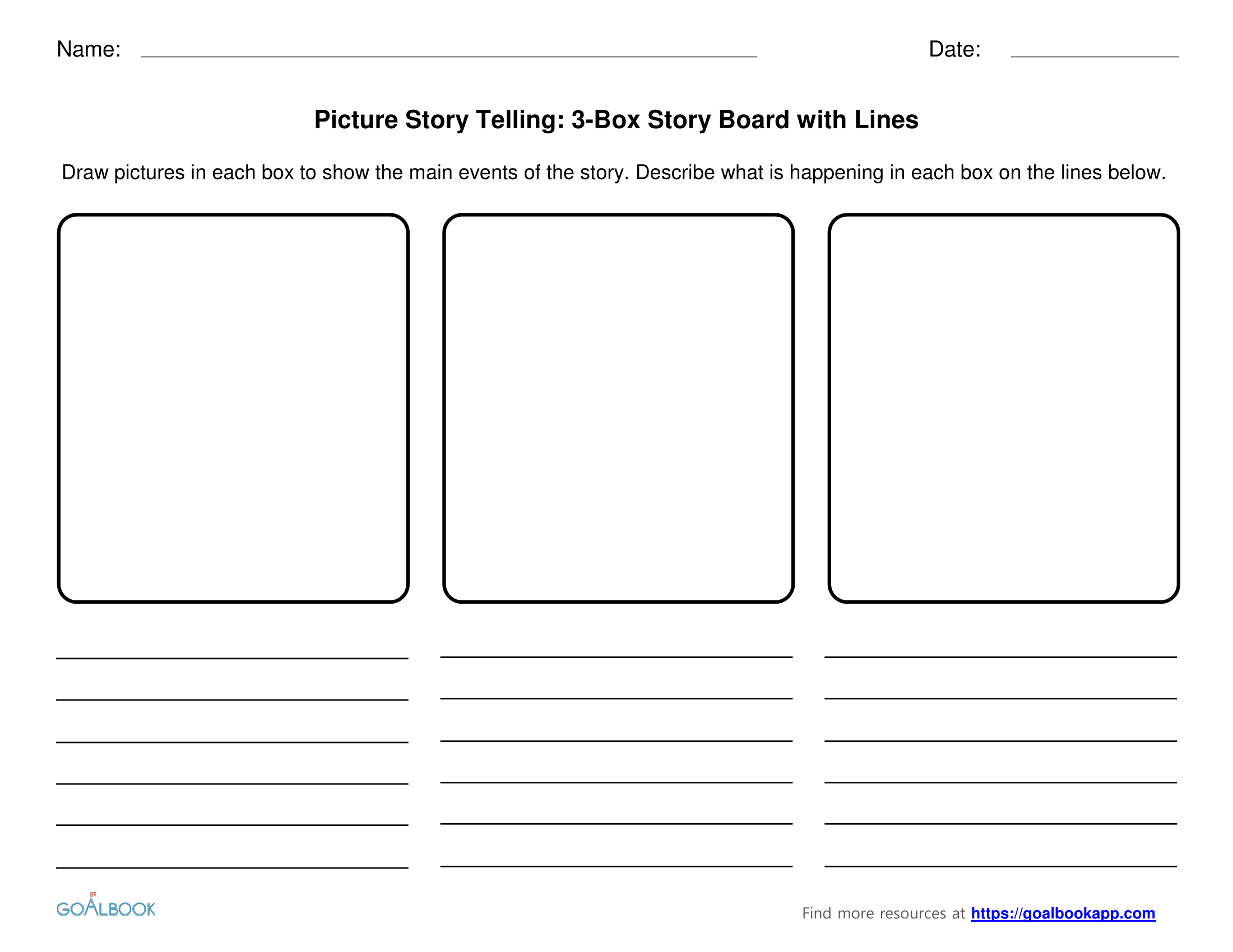Beginning Middle End Story Boards