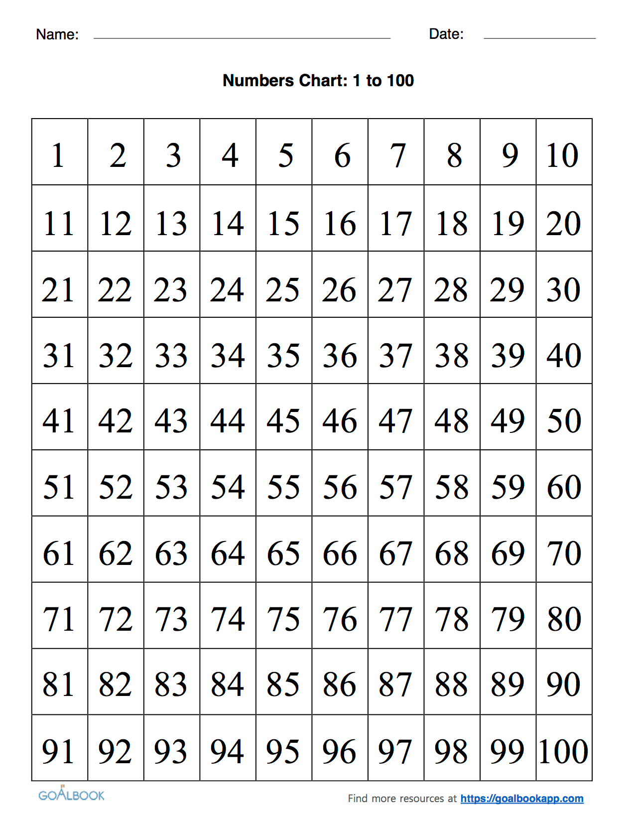 Small Number Grid Worksheet
