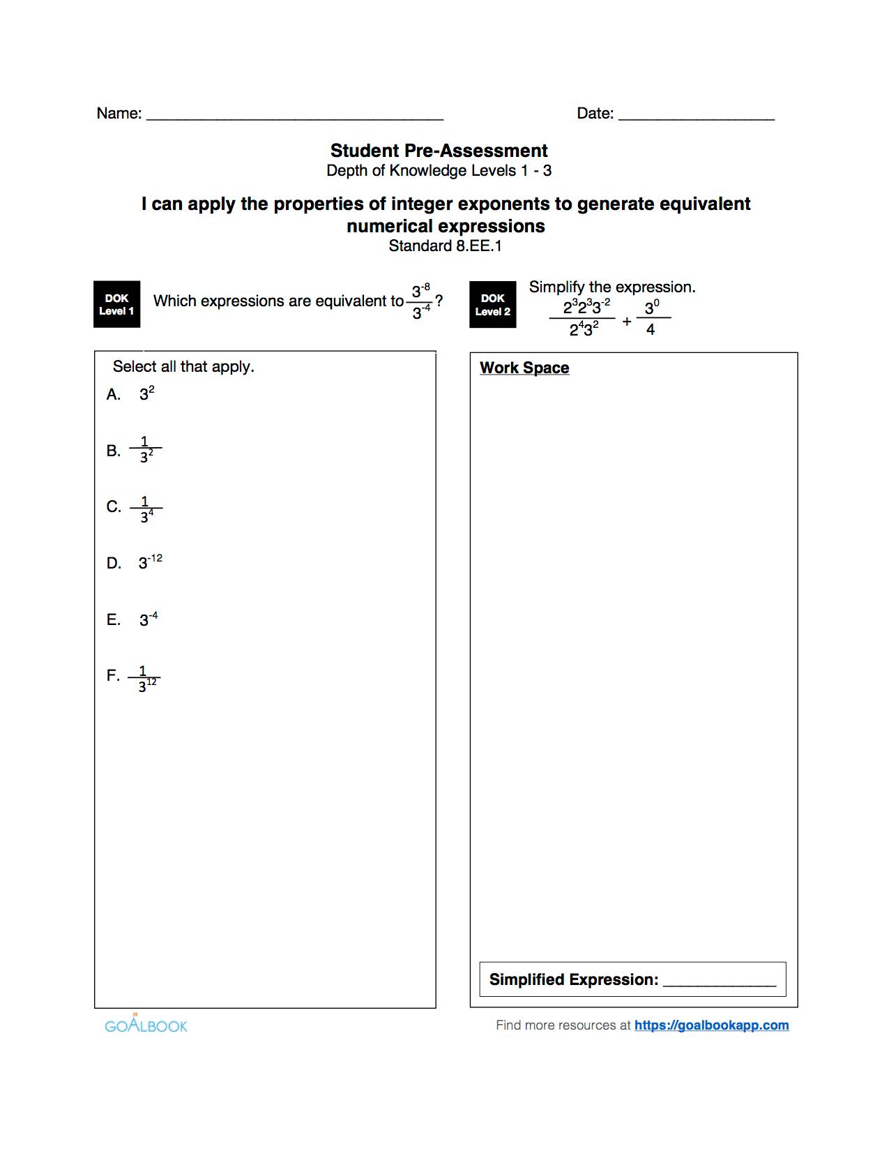 8 1 Properties Of Exponents