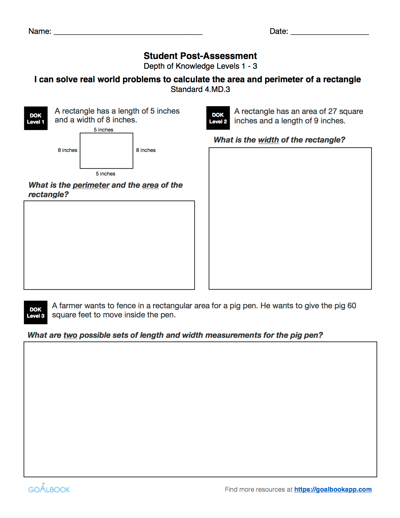 4 Md 3 Word Problems With Area And Perimeter