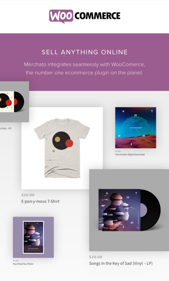 Merchato eCommerce for musicians with WooCommerce