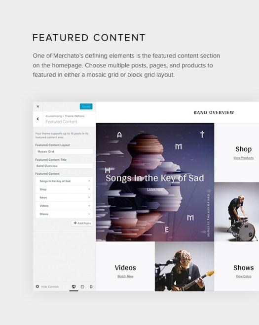 Merchato featured content