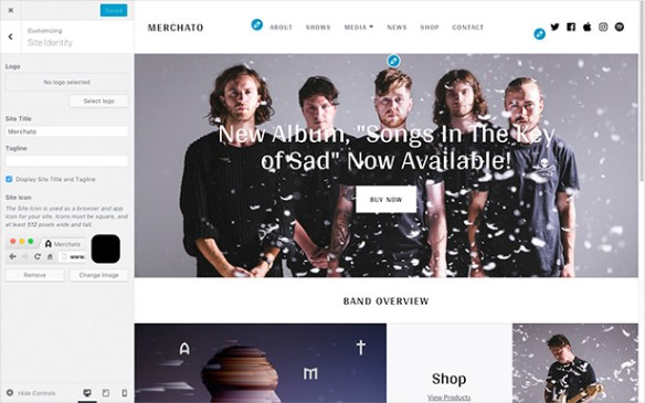 Merchato logo customization options