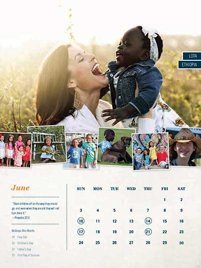 June 2018 Adoption Calendar Haiti