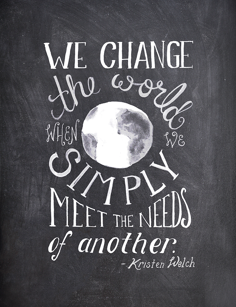 We Change the World