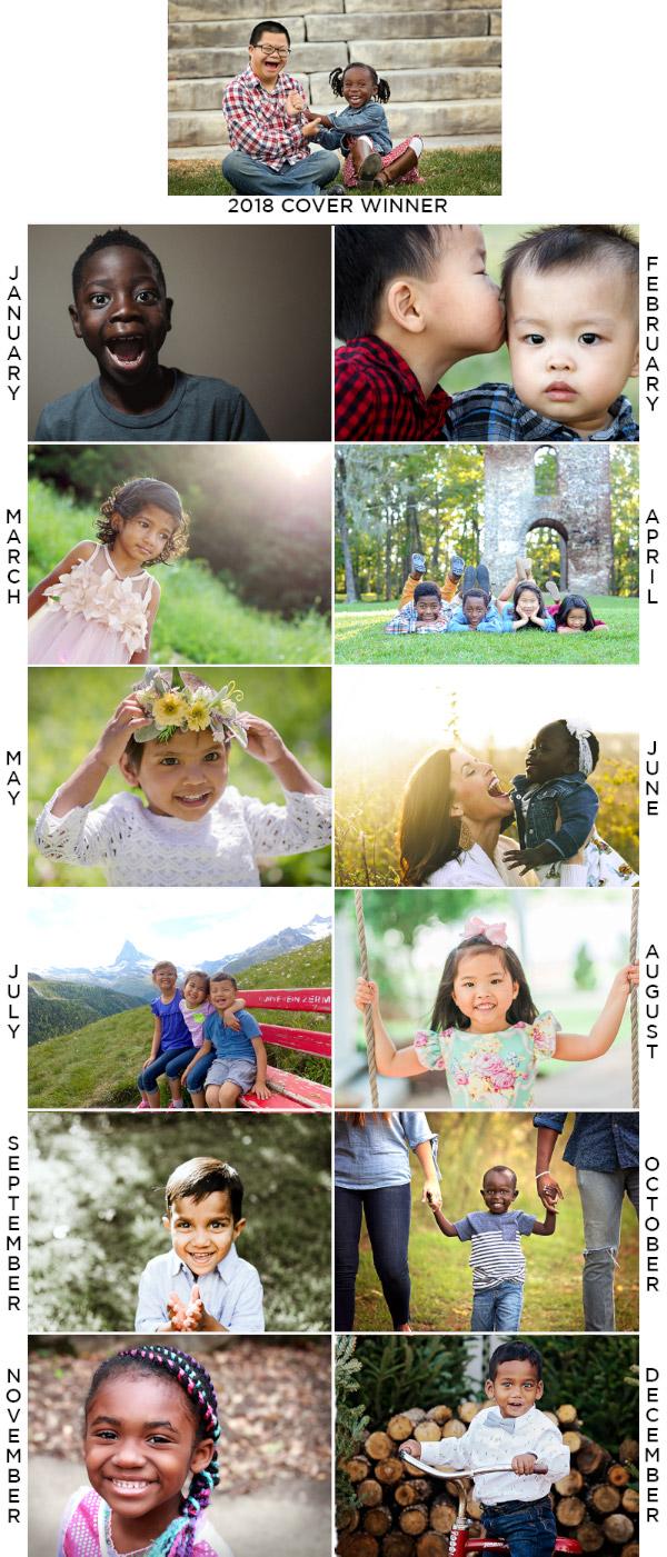 2018 Adoption Calendar
