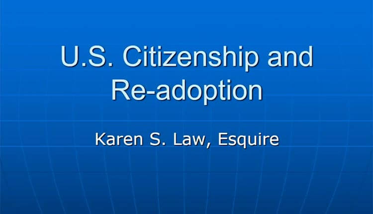 citizenship and re-adoption