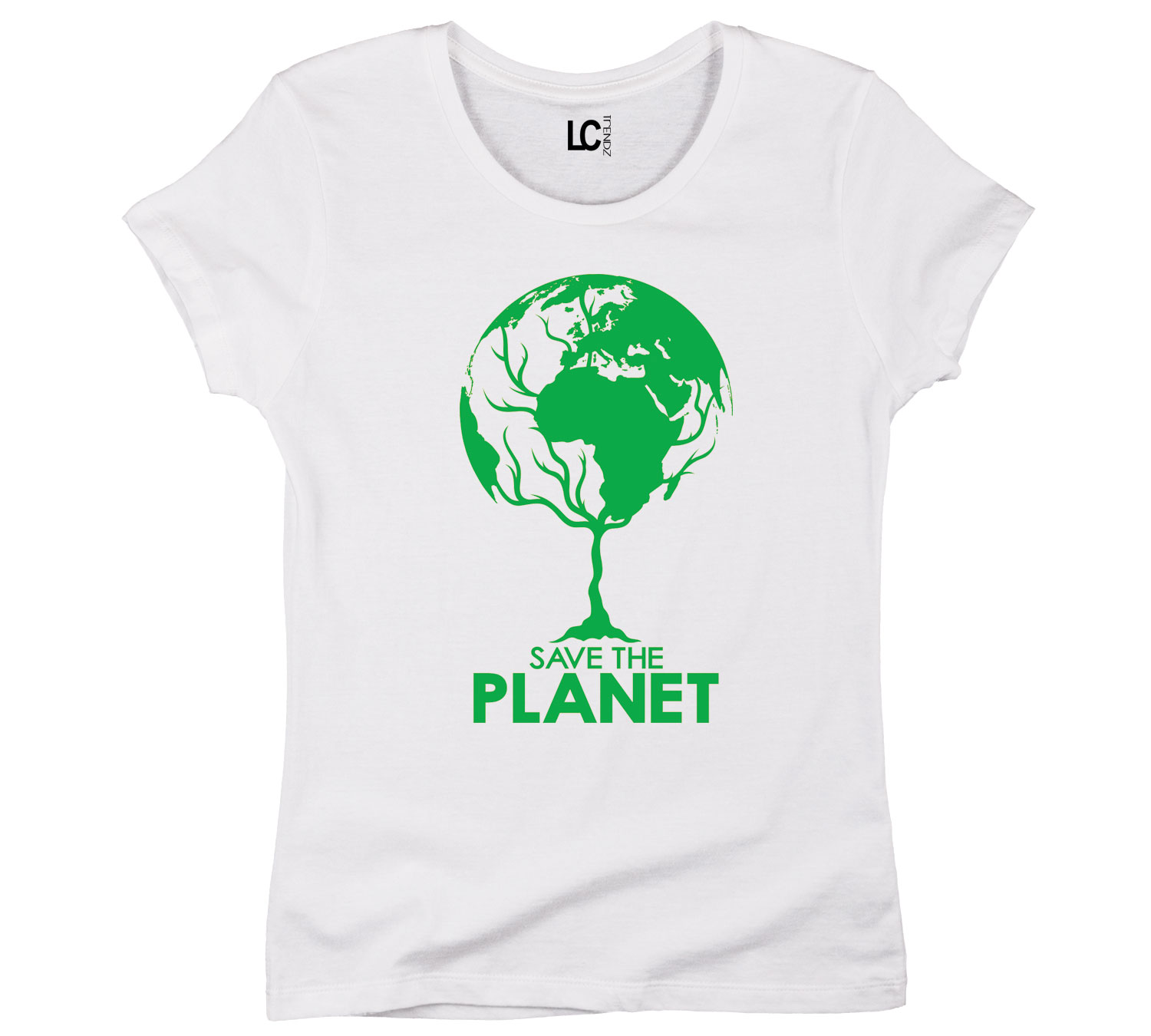 Save The Planet Earth Globe Tree Cool Earth Day Womens T